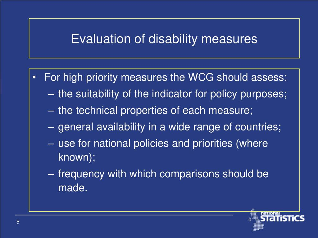 Evaluation of disability measures