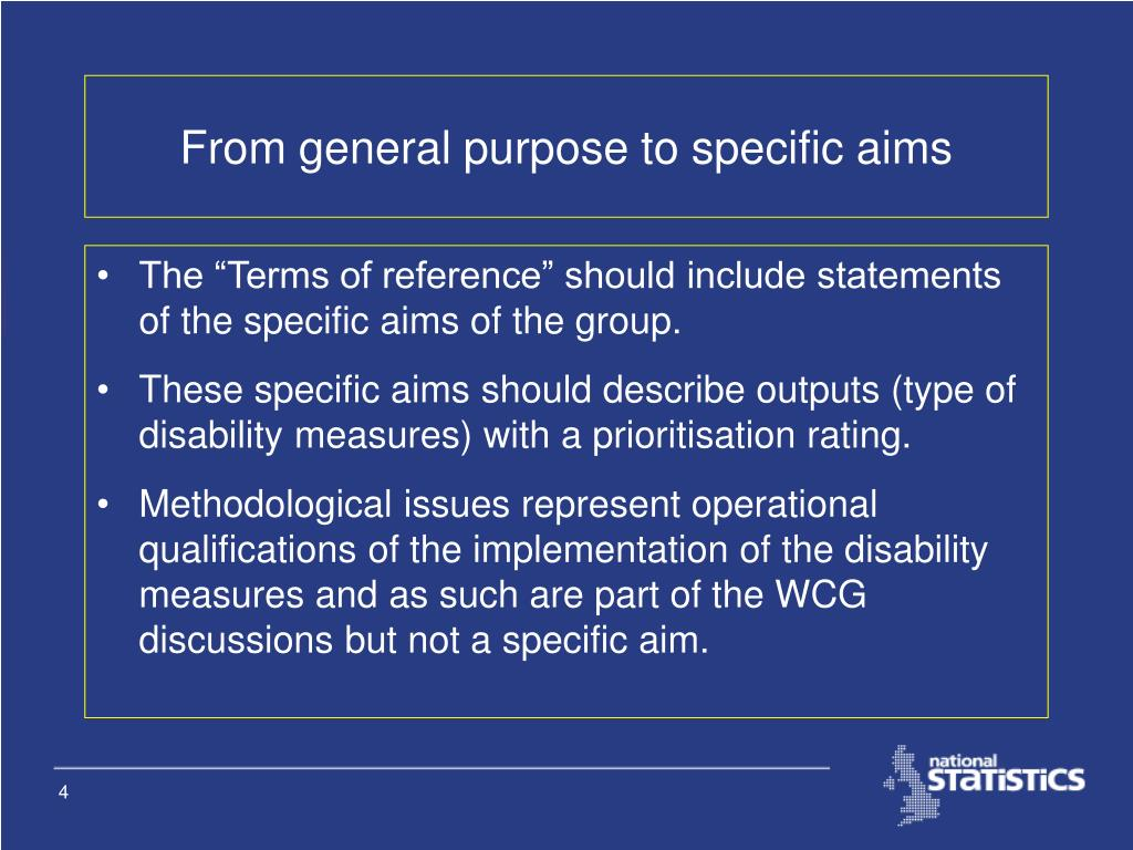 From general purpose to specific aims