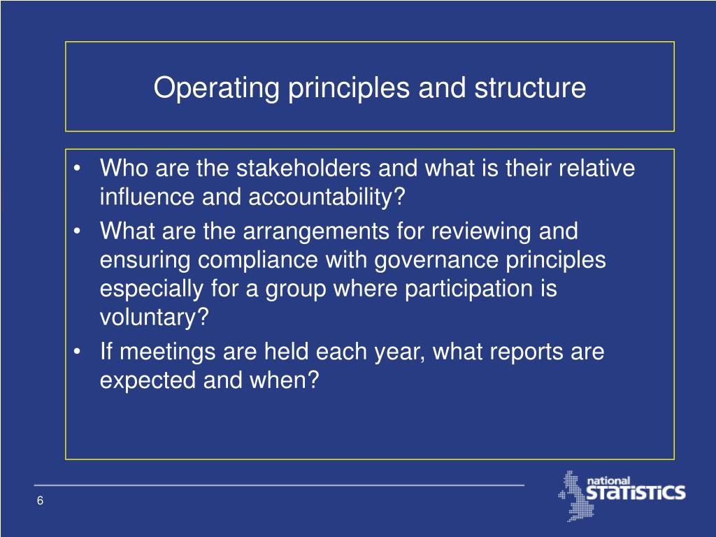 Operating principles and structure