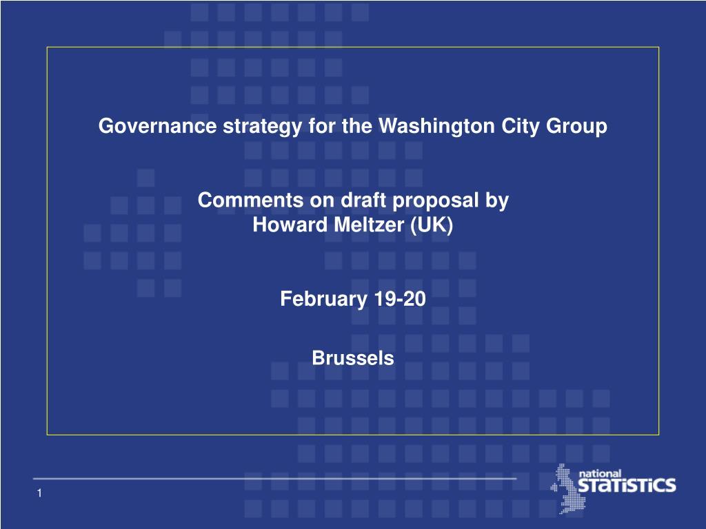 Governance strategy for the Washington City Group