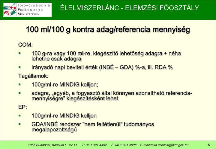 100 ml/100 g kontra adag/referencia mennyiség