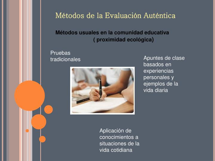 Métodos usuales en la comunidad educativa