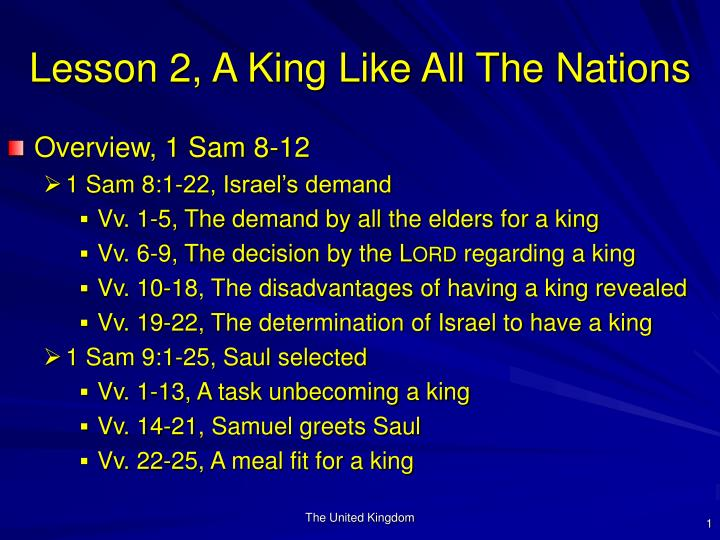 Lesson 2 a king like all the nations