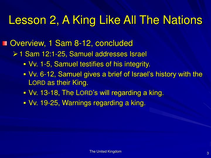 Lesson 2 a king like all the nations3