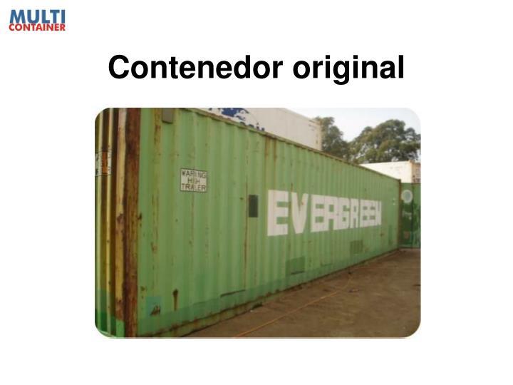 Contenedor original
