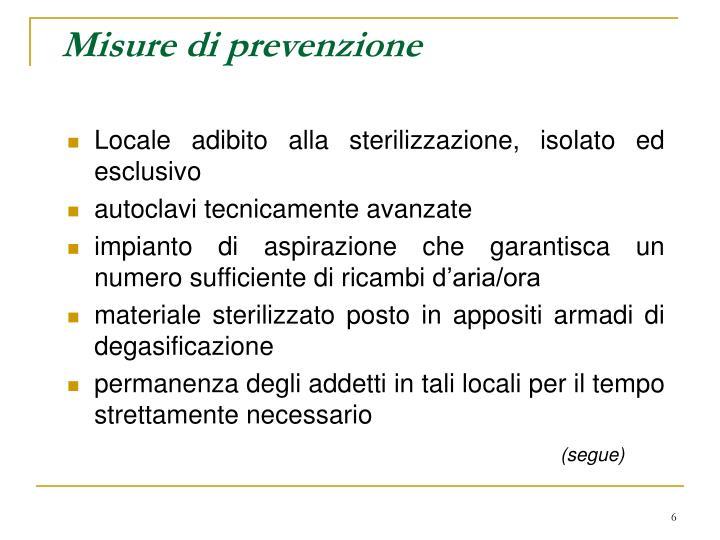 Misure di prevenzione