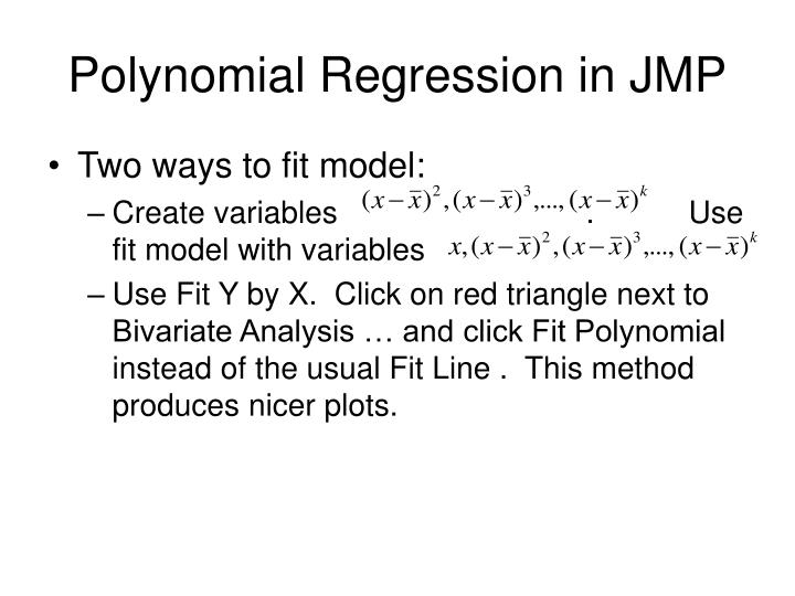 Polynomial Regression in JMP