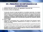 xv principios incorporados a la constitucion