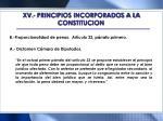 xv principios incorporados a la constitucion1