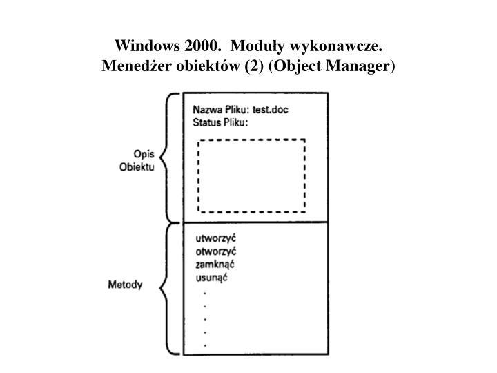 Windows 2000.  Moduły wykonawcze.