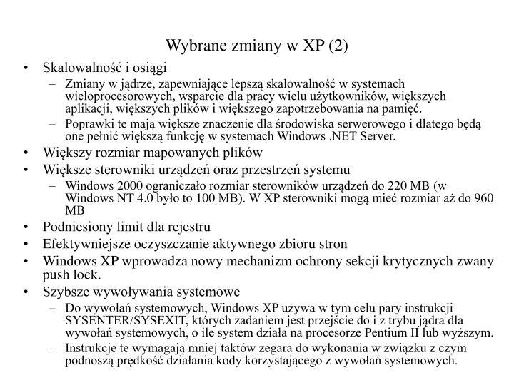 Wybrane zmiany w XP (2)