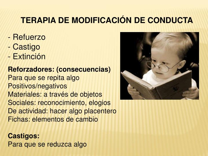 TERAPIA DE MODIFICACIÓN DE CONDUCTA
