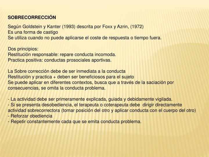 SOBRECORRECCIÓN