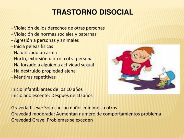TRASTORNO DISOCIAL