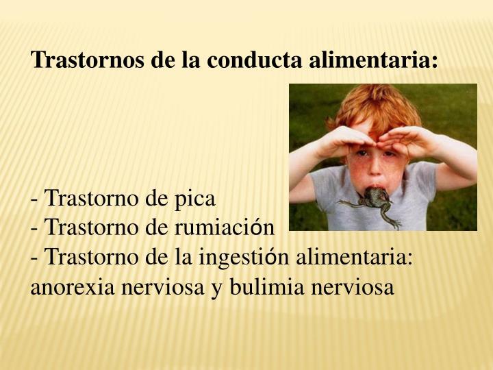 Trastornos de la conducta alimentaria:
