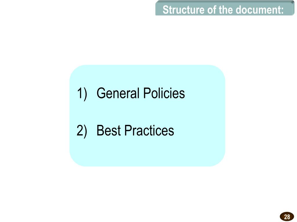 Structure of the document:
