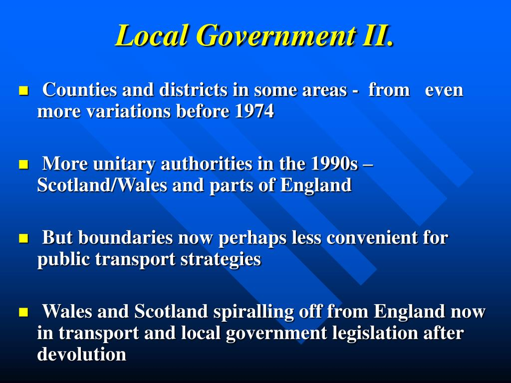 Local Government II.