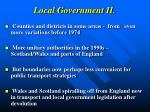 local government ii