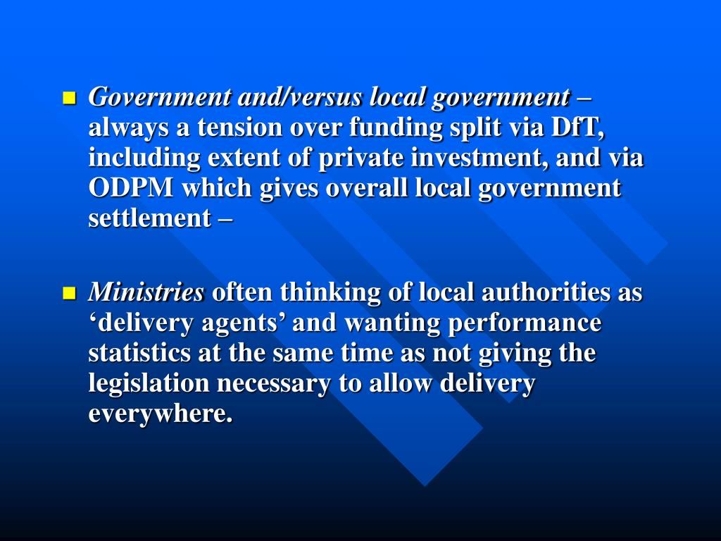 Government and/versus local government