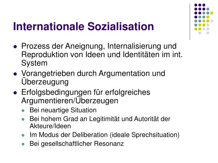 Internationale Sozialisation