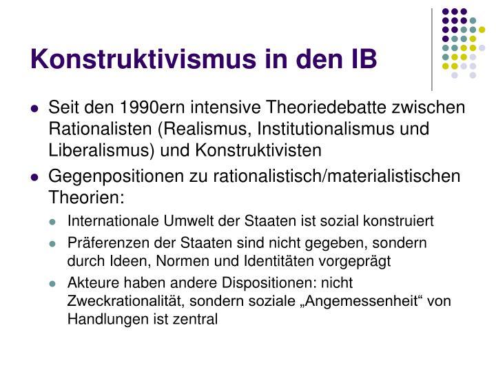 Konstruktivismus in den IB