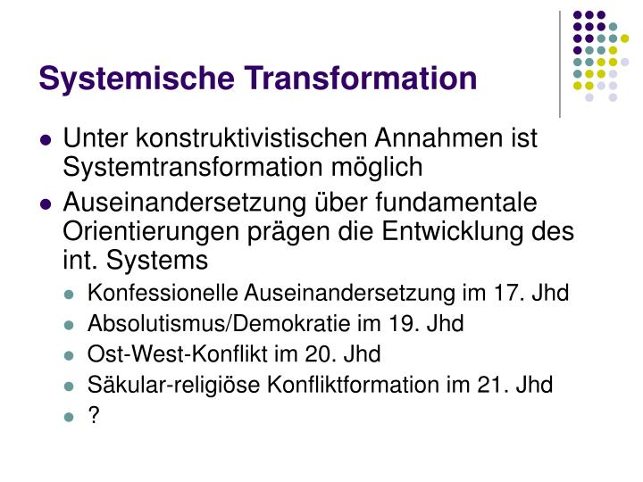 Systemische Transformation
