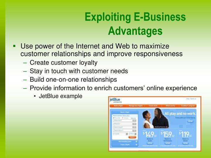 Exploiting E-Business