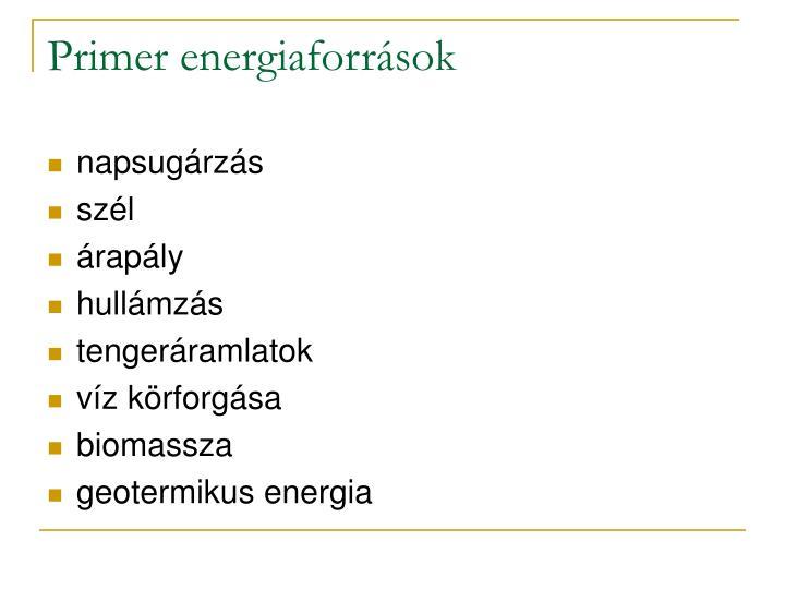Primer energiaforrások