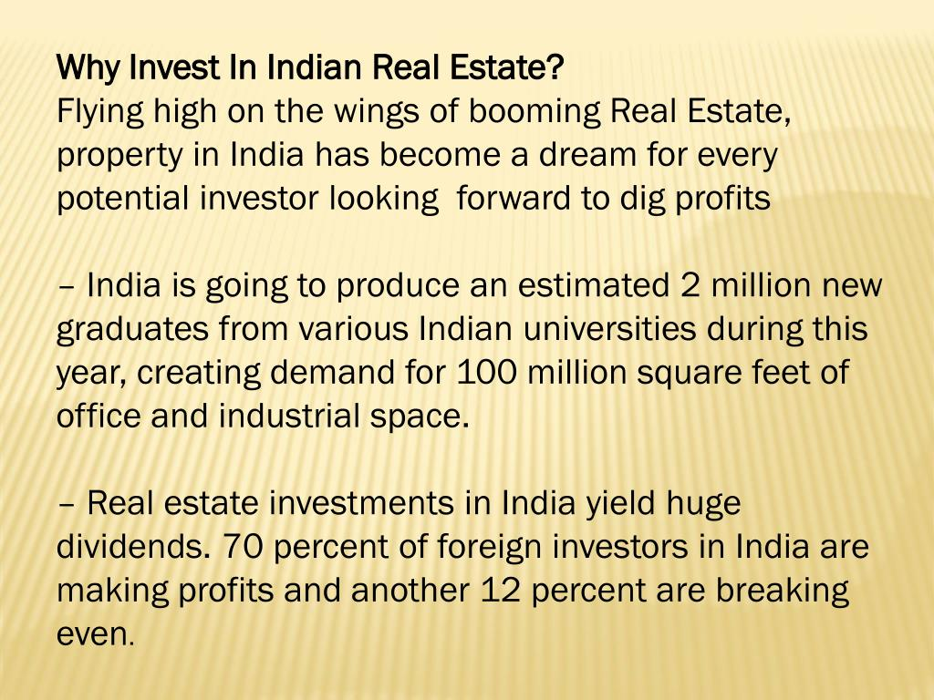 Why Invest In Indian Real Estate?