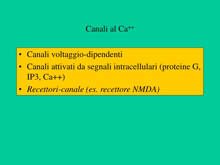 Canali al Ca