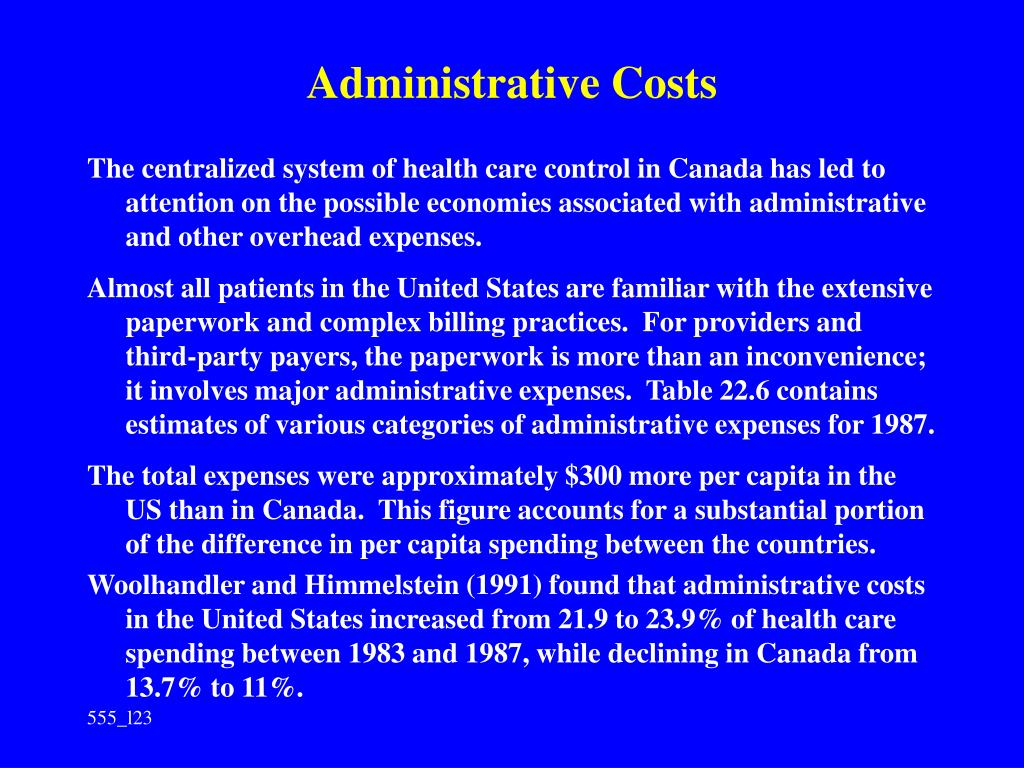 Administrative Costs