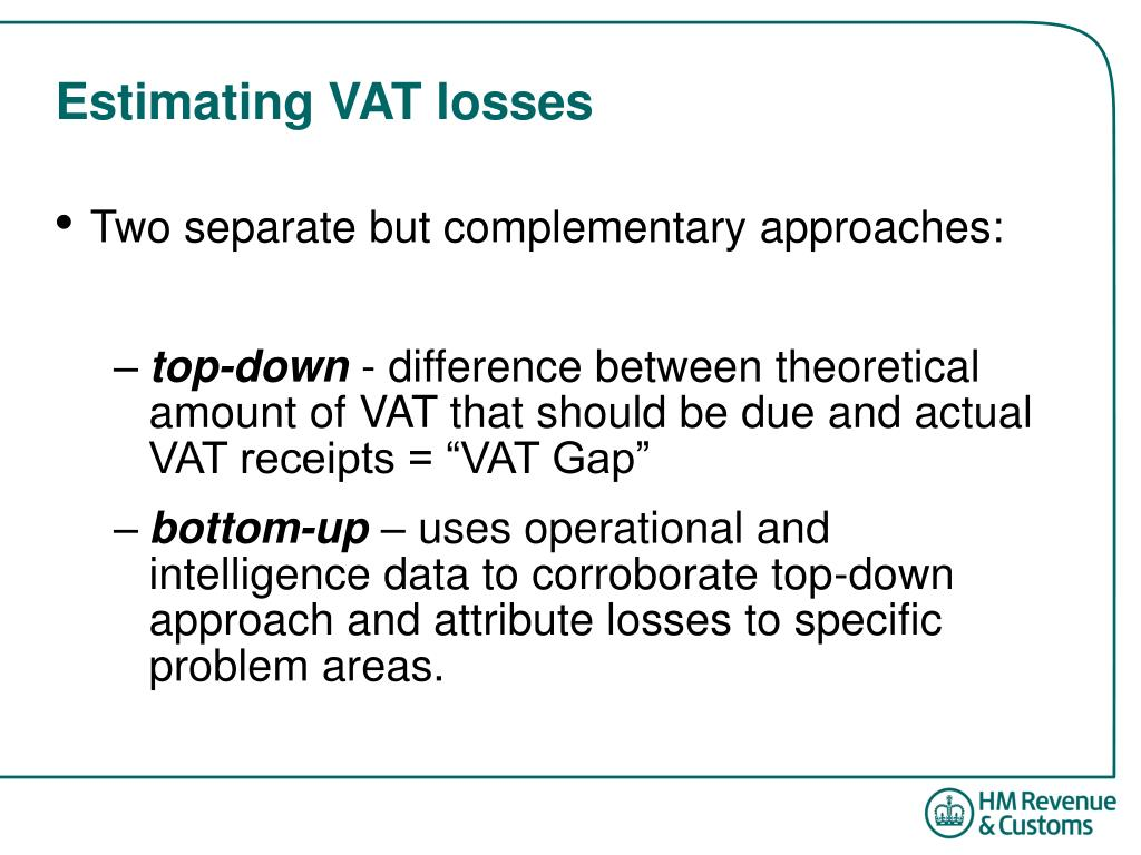 Estimating VAT losses