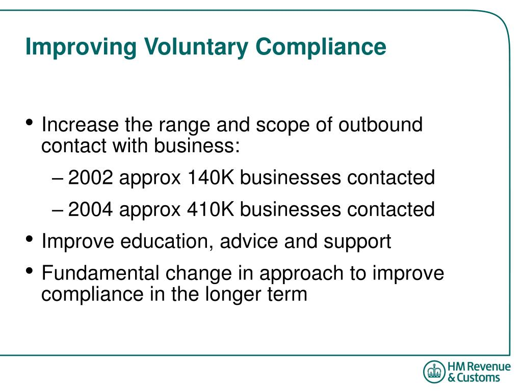 Improving Voluntary Compliance