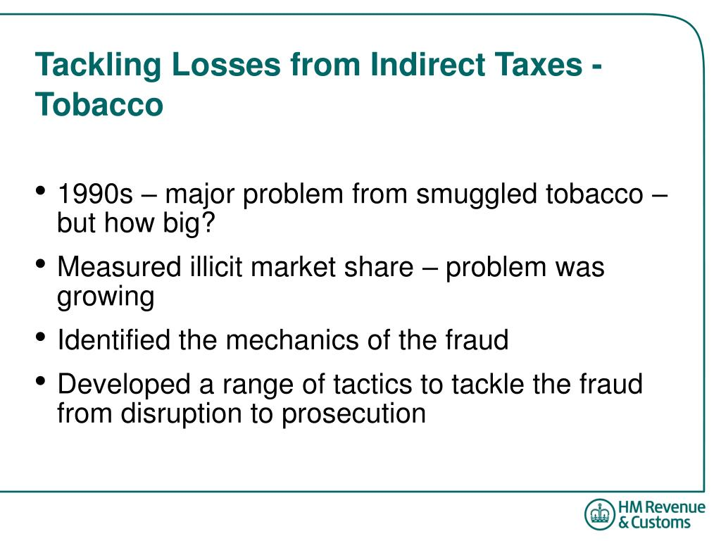 Tackling Losses from Indirect Taxes - Tobacco