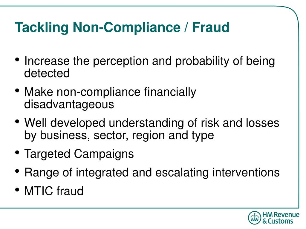 Tackling Non-Compliance / Fraud