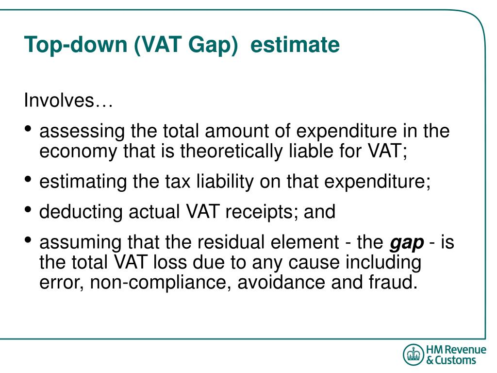Top-down (VAT Gap)  estimate