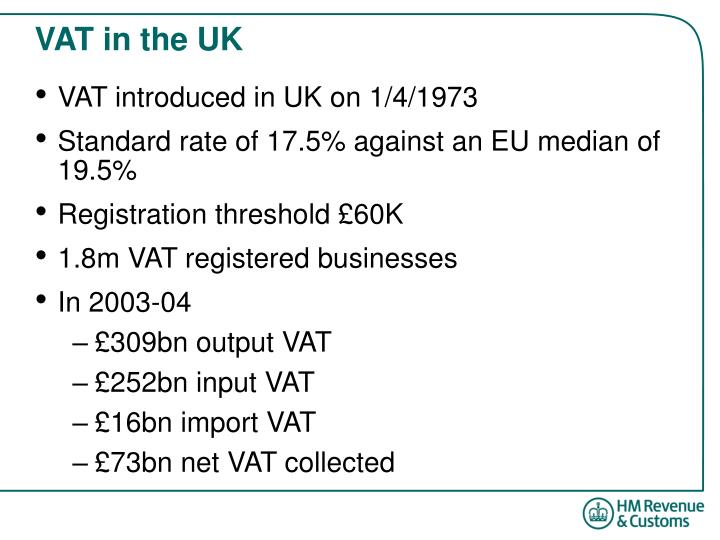 Vat in the uk