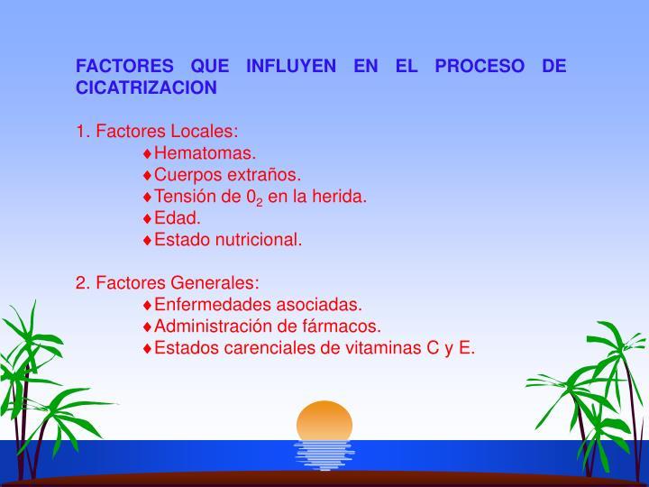 FACTORES QUE INFLUYEN EN EL PROCESO DE CICATRIZACION