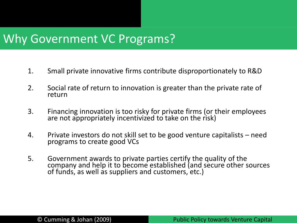 Why Government VC Programs?