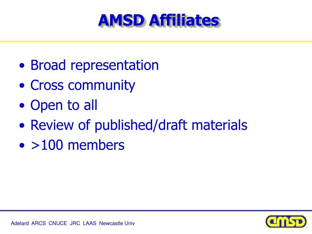AMSD Affiliates