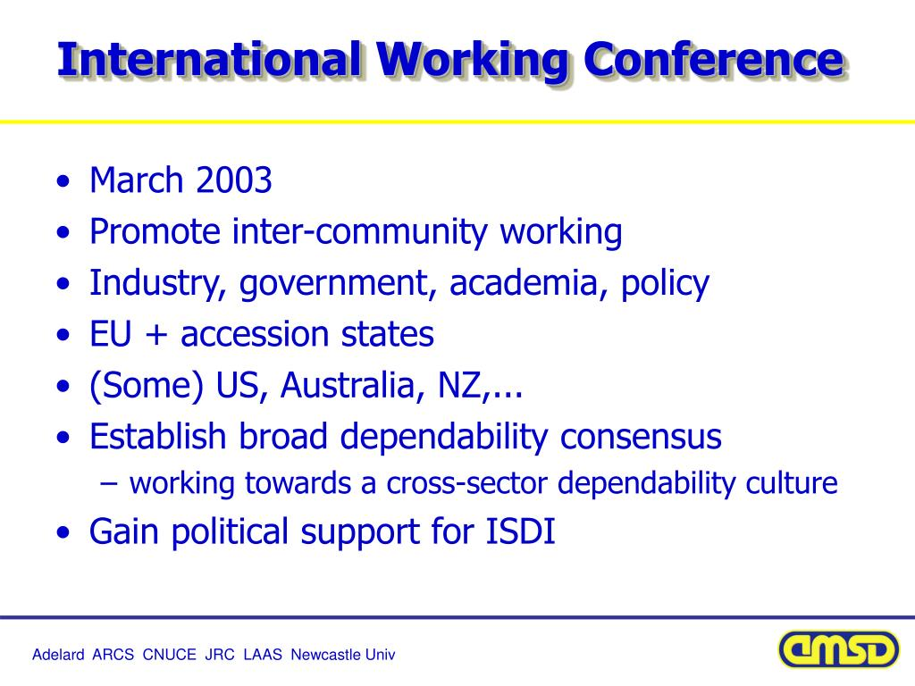 International Working Conference