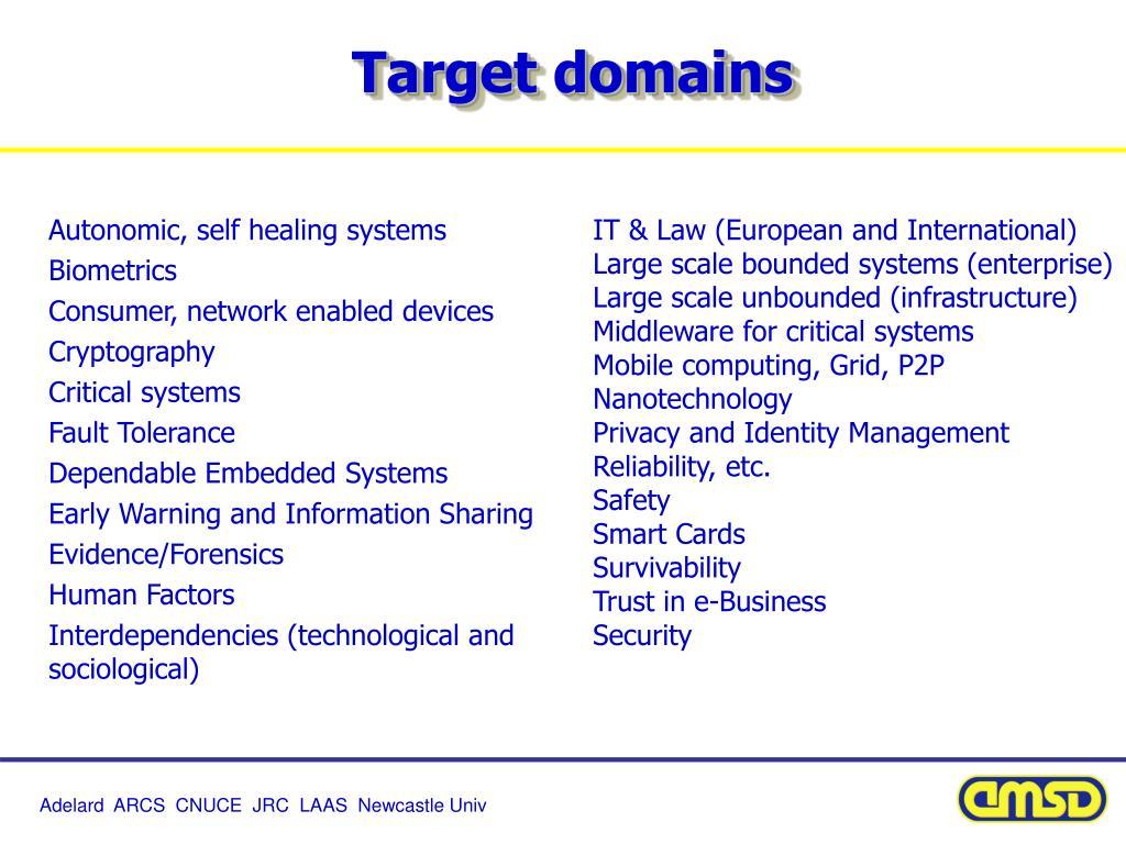 Target domains