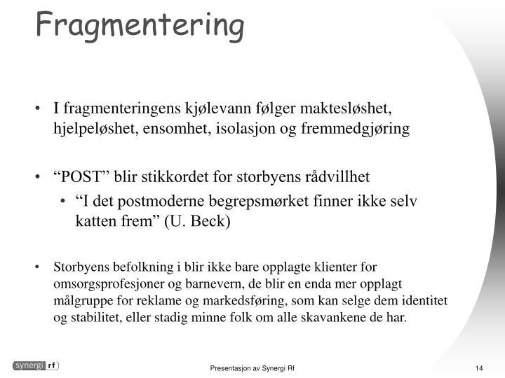 Fragmentering