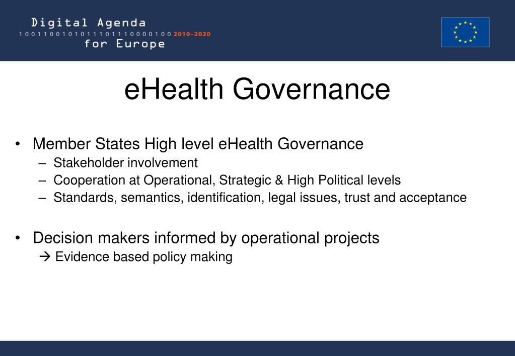 eHealth Governance