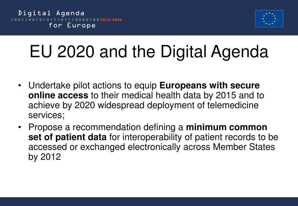 EU 2020 and the Digital Agenda