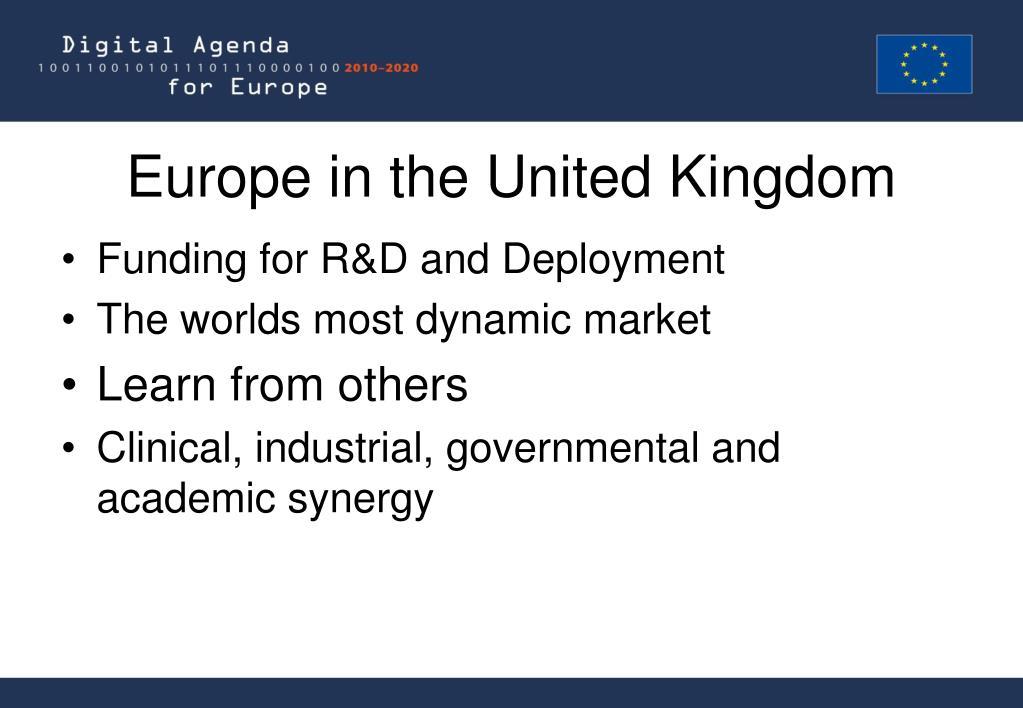 Europe in the United Kingdom