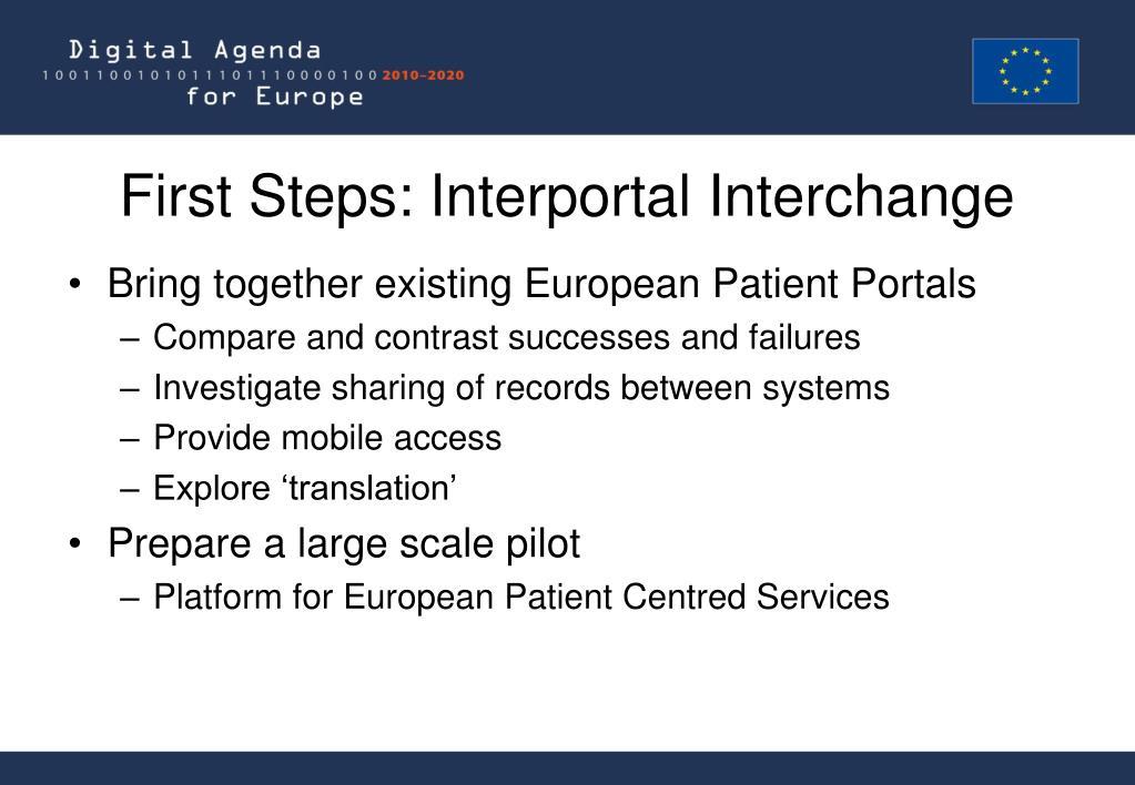 First Steps: Interportal Interchange