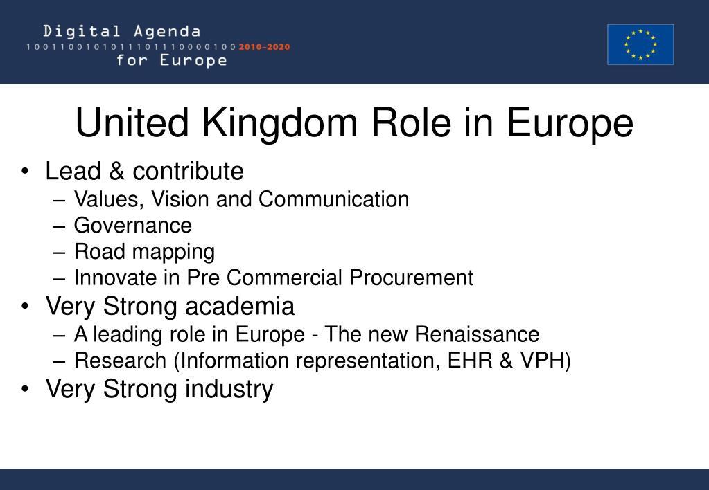 United Kingdom Role in Europe