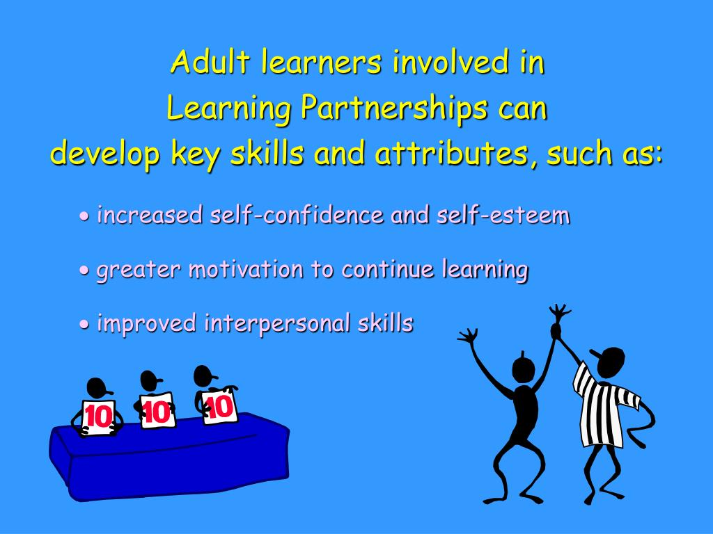 Adult learners involved in