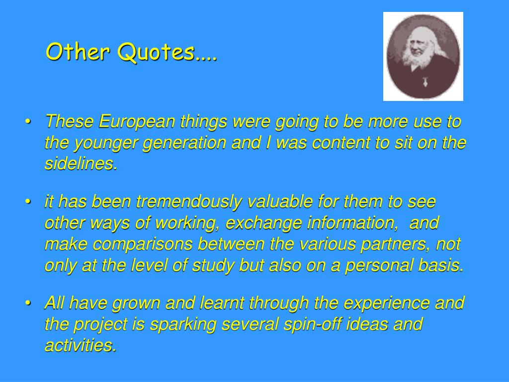 Other Quotes....